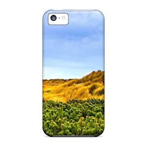New Arrival Cases Covers With QXO52678LZTg Design For Iphone 5c- Green Gold Field