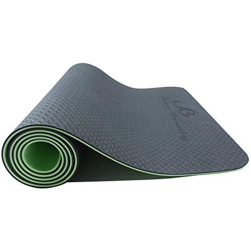 Lover-Beauty High Density Anti-Tear Exercise Yoga Mat for Gymnastics Green