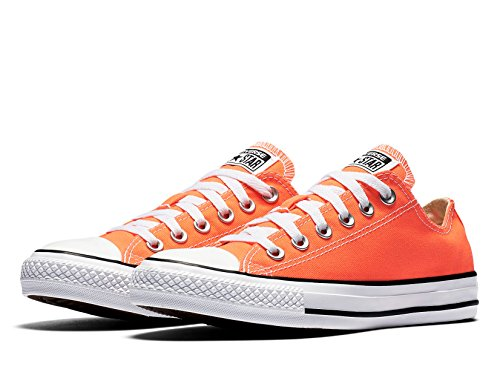 Converse Womens CTAS Ox Hyper Canvas Trainers Hyper Orange