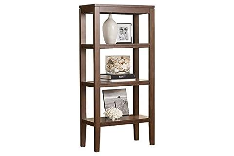 Ashley Furniture Signature Design - Deagan Pier Cabinet - 3 Fixed Shelves - Contemporary - Dark Brown