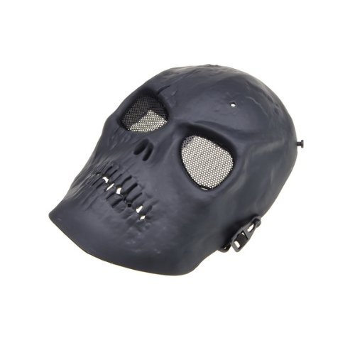 NEEWER® Black Skull Skeleton Army Airsoft Paintball BB Gun Full Face Game Protect Mask for Airsoft Hunting Wargame and All Military Purpose