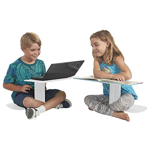ECR4Kids The Surf - Portable Lap Desk/Laptop Stand/Writing Table, Powder White (10-Pack)