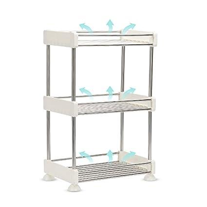 etag ¨ ¨ RES de almacenaje de plástico Cocina Cuarto de baño multicapa cuarto de baño
