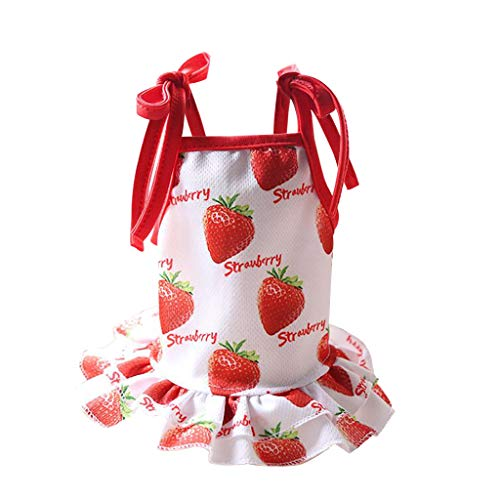 Adorable Dog Dress Clothes Grid Skirt for Small Medium Pet Dog -