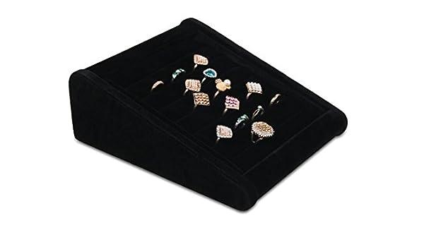 LFHT - Caja expositora de terciopelo para pendientes, gemelos, bandejas expositoras, anillos, estuche organizador ideal para regalos: Amazon.es: Hogar