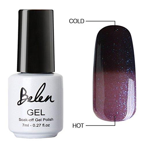 Belen Chameleon Thermal Colour Changing Gel Polish Soak Off Nail Art Manicure 9047