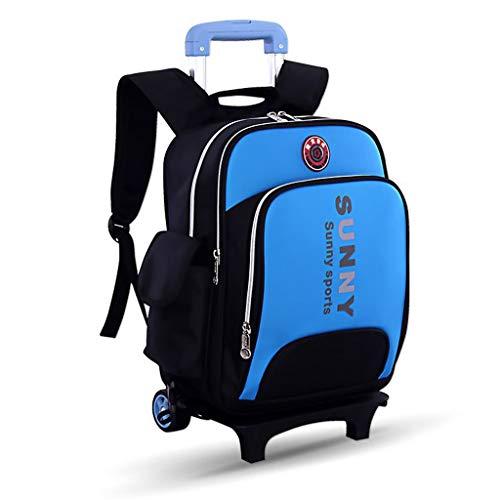 C-Xka Mochila de Hombro de Nylon Impermeable para niños Bolsas de Viaje Senderismo Bolsas de Gran Capacidad con Carro de...