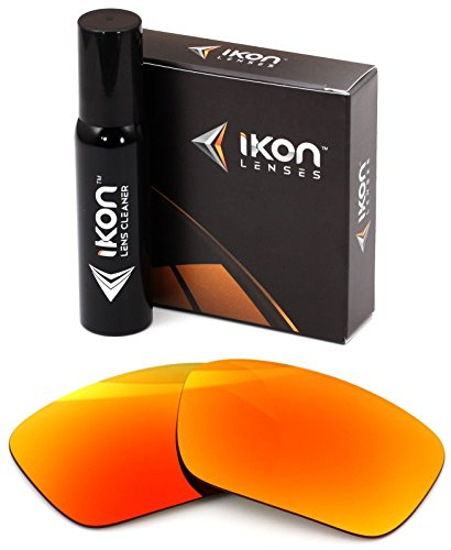 Polarized Ikon Iridium Replacement Lenses for Oakley Fuel Cell Sunglasses - Fire Orange Mirror