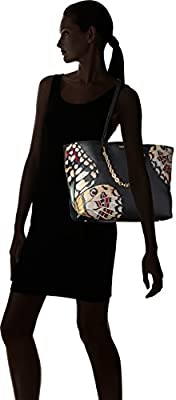 Calvin Klein Hera Pebble Butterfly Embellished Chain Front Tote