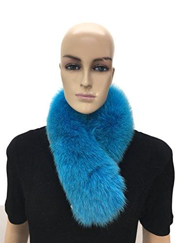 HIMA 100% Real Fox Fur Headband (Navy Blue) by Hima