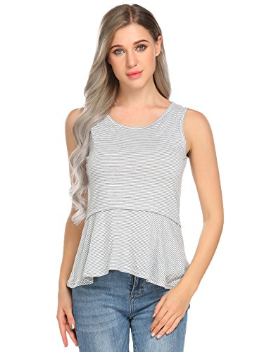 Baby Doll Tank Tunic (Venena Womens Short Sleeve Baby Doll Ruffle Tunic Plus Size Shirt Top,X-Large,Yarn Dyed Fabric2)