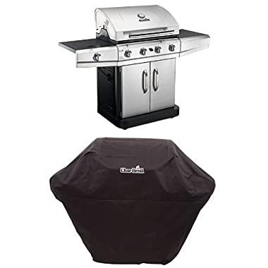 Char-Broil Classic 4-Burner Gas Grill, Cabinet + Cover