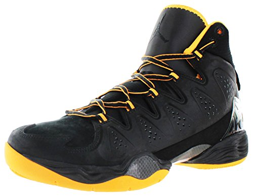 Jordan Air Nike Melo 10 hombres de baloncesto Hightop Zapatos Carmelo Anthony Black/Atomic Mango