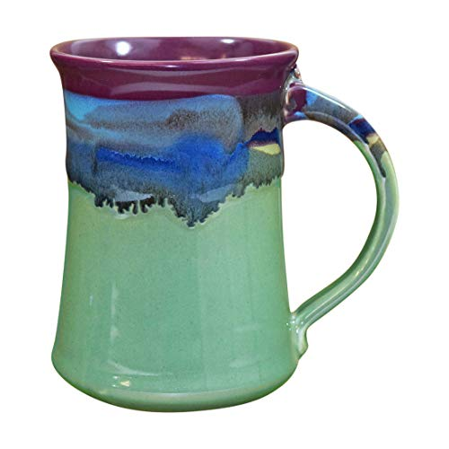 Mug Pottery Beer (Clay in Motion Handmade Ceramic Large Mug 20oz - Mossy Creek)