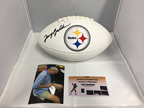 Terry Bradshaw Autographed Signed Pittsburgh Steelers Logo Football Gtsm Player Hologram Coa   Hologram W Photo From Signing