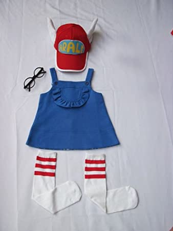 super9 Cosplay Costumes Dr.Slump & Arale clothing 5pc Set-4 ...