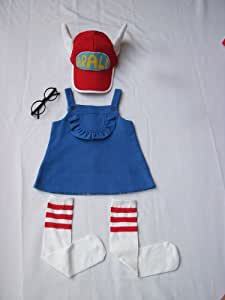 super9 Cosplay Costumes Dr.Slump & Arale clothing 5pc Set-4 ...