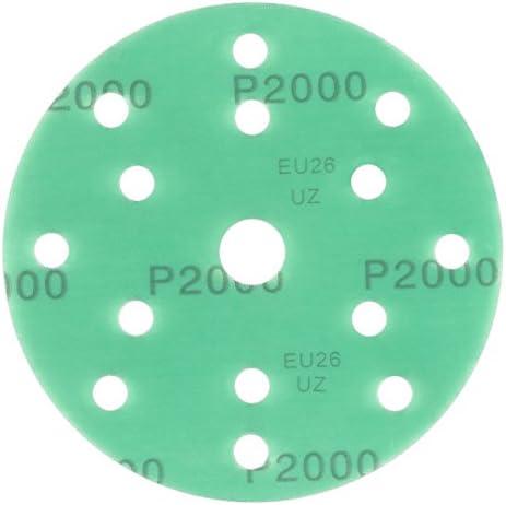 Haft Klett Schleifpapier gold Film 10 St/ück 150 mm Exzenter Schleifscheiben P240 K/örnung 15 Loch