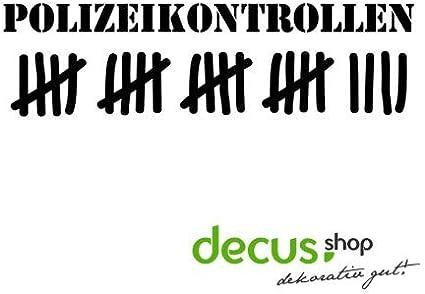 Decus Pegatina de la Lista de códigos de la policía: Amazon.es: Coche y moto