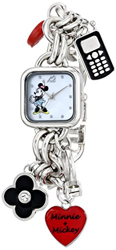 Disney Women's MN2011 Minnie Mouse Mother-of-Pearl Dial Charm ()