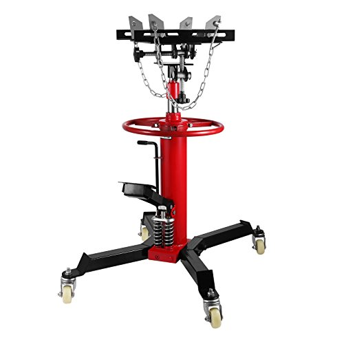 Lowest Price! Mophorn Transmission Jack 1100 LB 1/2 Ton Capacity Hydraulic Transmission Jack 2 Stage...