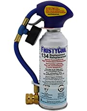 FrostyCool R134a and R12 Replacement Refrigerant 8 oz. Can with Trigger Hose (Equivalent to 23 oz.)