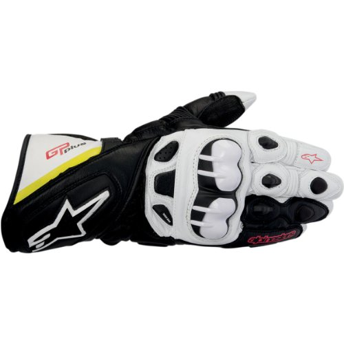 - Alpinestars GP Plus Men's Street Motorcycle Gloves - Black/White/Yellow/Red/Medium