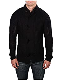 Men's Toggle Cardigan Knit Sweater