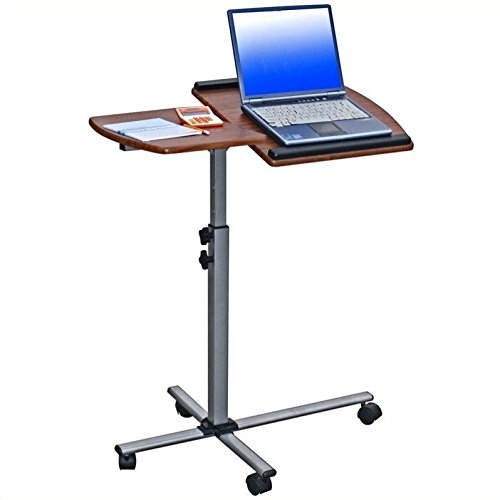 Scranton & Co Adjustable Mobile Laptop Stand in Mahogany by Scranton & Co
