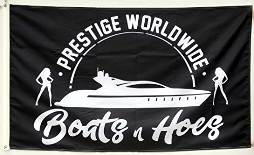 Annfly Prestige Worldwide Boats & Hoes Step Brothers Catalina flag Banner 3X5 Feet