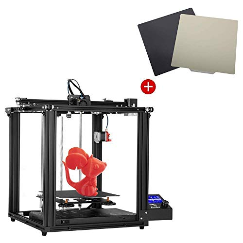 Creality Ender 5 Pro 3D Printer and PEI Magnetic Flexible Heated Bed 235x235mm with Frosted Surface