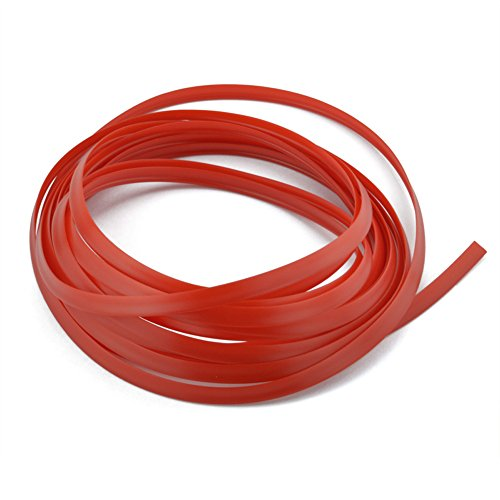 runmade 16.5Ft Flexible Panel Gap Decor Molding Trim Line Strip for Cars Truck SUV (Red)