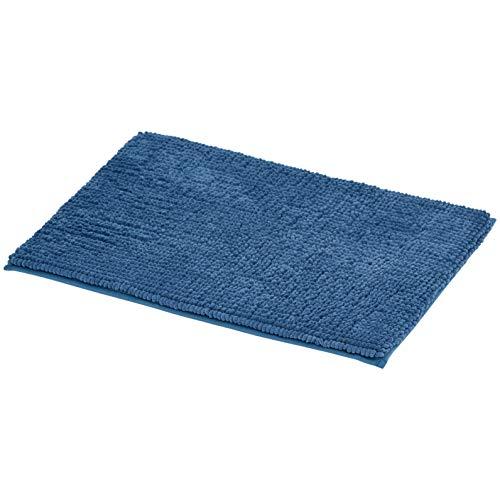 AmazonBasics Chenille Loop Memory Foam Bath Mat – Blue, Small