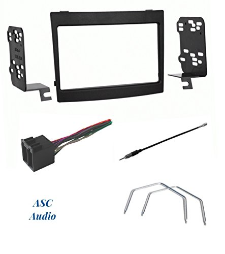 ASC Audio Car Stereo Dash Install Kit, Wire Harness, Antenna Adapter, and Radio Removal Tool for Installing a Double Din Radio for some Pontiac GTO - Compatible Vehicles Listed Below