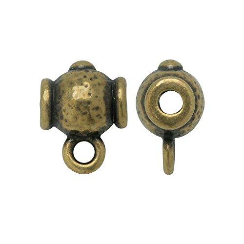 TierraCast Guru Bead, Hammered Round 9.5x13mm, 2 Pieces, Brass Oxide Finish
