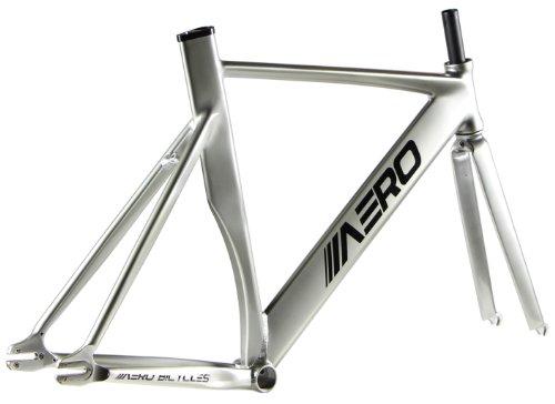 amazoncom aero s7 alloy track frame titanium silver 54cm sports outdoors