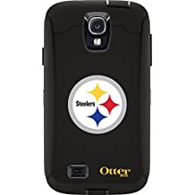 OtterBox Defender Case for Samsung GALAXY S4 - Retail Packaging - NFL Steelers (Black, Pittsburgh Steelers NFL Logo)