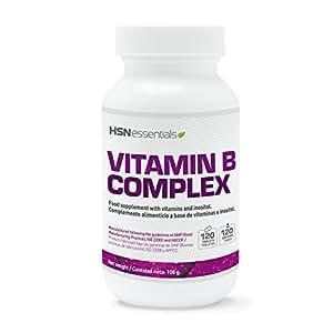 Vitamina B de HSN Essentials - B Complex - Vitaminas del grupo B: B1, B2, B3, B5, B6, B12, Biotina y Ácido Fólico - 120 tabletas