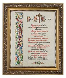US Gifts Bless Our Marriage Series Marriage BlessingsPrint in Woodtone Finish Frame