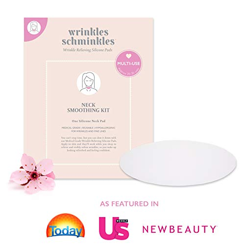 WRINKLES SCHMINKLES - Neck Smoothing Kit with Neck Pad - Made in USA - Premium Neck Silicone Wrinkle Pads - Correct Neck Wrinkles due to Aging & Sun Damage with Anti Wrinkle Patches for a Firm Neck ()