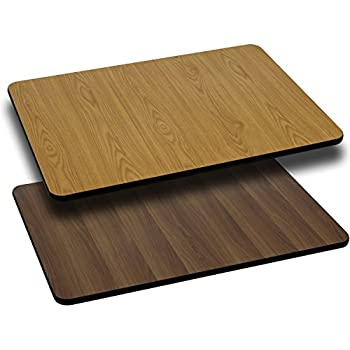 30u0027u0027 X 60u0027u0027 Rectangular Table Top With Natural Or Walnut Reversible Laminate