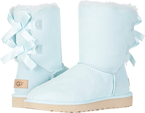 Womens Ugg Boots Casual (UGG Women's Bailey Bow II Fashion Boot, Aqua, 9 M US)