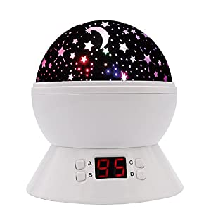 Star night light scopow rotating projection lamp with led timer auto off and rotating romantic - Timer night light for toddlers ...