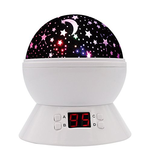 [UPGRADE] MOKOQI Rotating Star Sky Projection Night Lights Toys Table Lamps with...