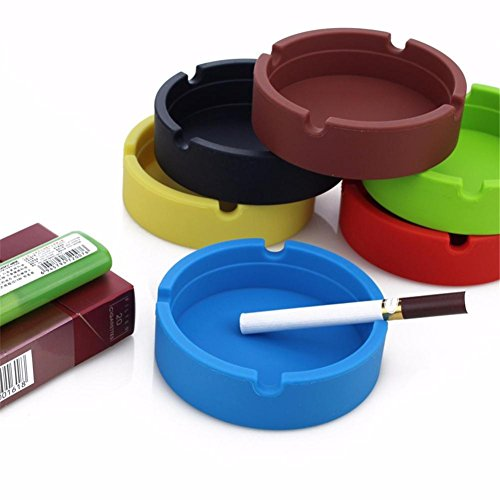 Ashtrays for Cigarettes,Cigar Ashtray Premium Silicone Rubber Silicone Ashtray for Patio/Outdoor/Indoor Ashtray Home Décor