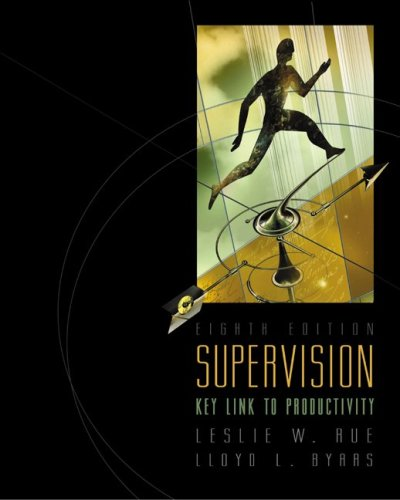 Supervision: Key Link to Productivity with Management Skill Booster Passcard