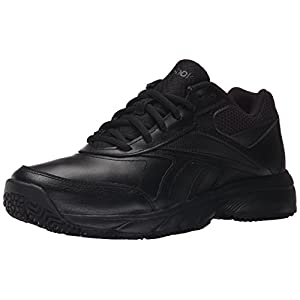 Reebok Women's Work N Cushion 2.0 Walking Shoe, Black/Black, 8 M US