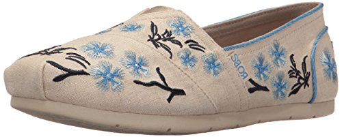 (BOBS from Skechers Women's Luxe Cherry Blossom Flat, Natural Cherry Blossom, 5 M US)