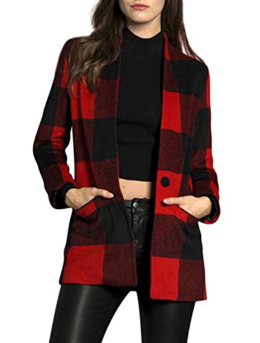 Red Check Coat: Amazon.com