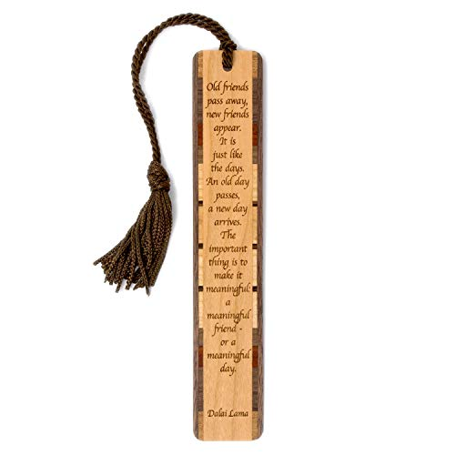 - Engraved Wooden Bookmark - Dalai Lama Quote with Tassel